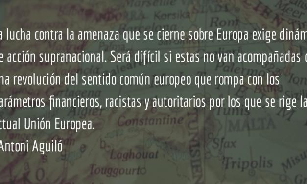 Tejer 15M en Europa. Antoni Aguiló.