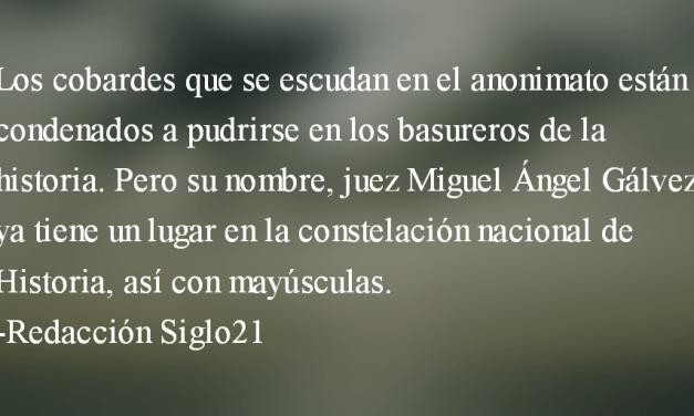 Solidaridad con el juez Miguel Ángel Gálvez