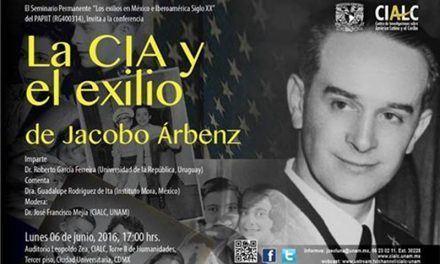 """Conferencia """"La CIA y el exilio de Jacobo Àrbenz"""""""