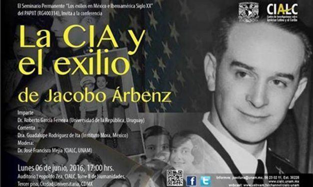 Conferencia «La CIA y el exilio de Jacobo Àrbenz»
