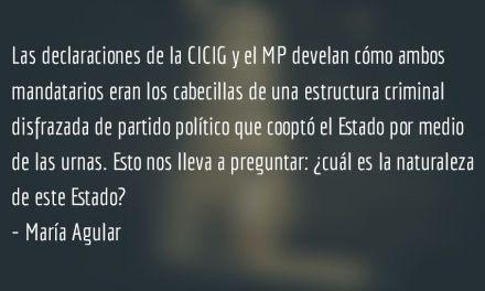 Estado cooptado I. María Aguilar.