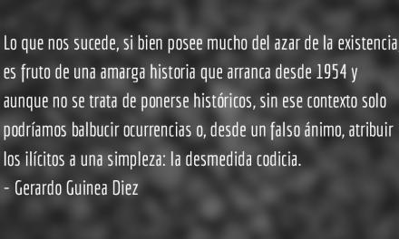 El golpe de dados jamás abolirá el azar. Gerardo Guinea Diez.