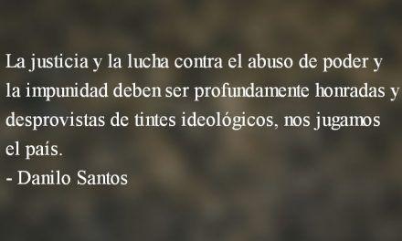 Nos jugamos el país. Danilo Santos.
