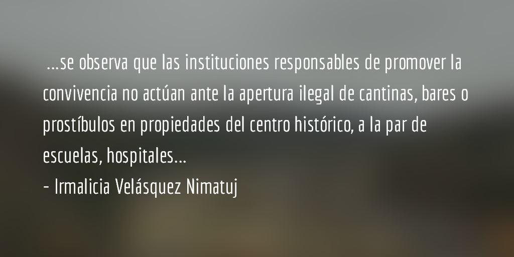 La destrucción de Quetzaltenango (II). Irmalicia Velásquez Nimatuj.