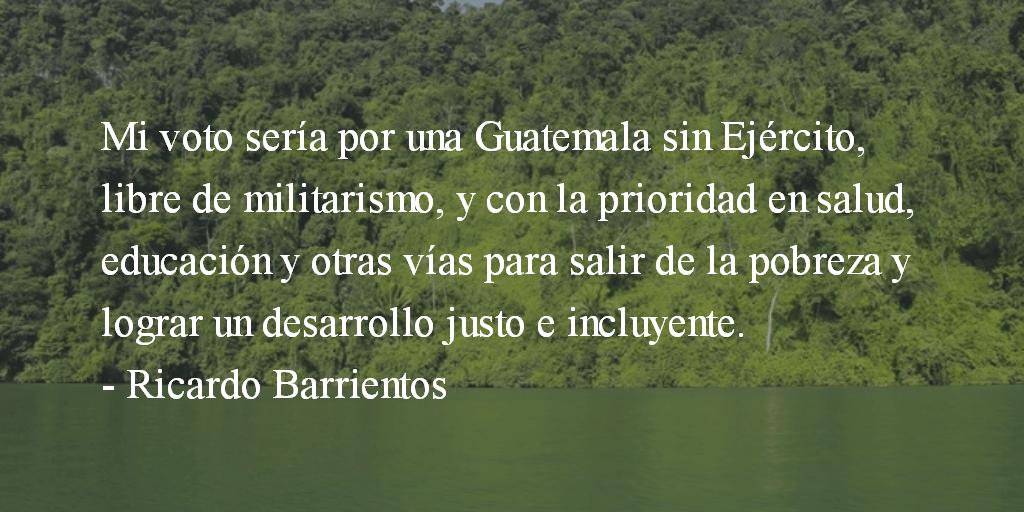 El Ejército no es prioridad. Ricardo Barrientos.