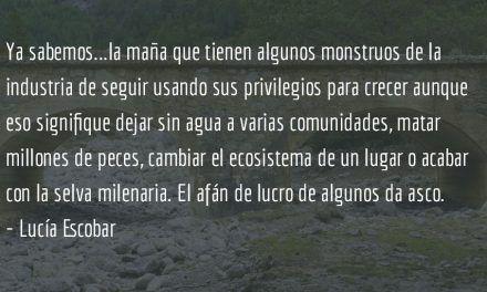 Desviando ríos. Lucía Escobar.