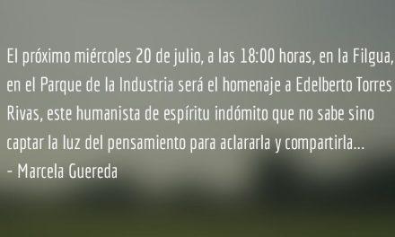Homenaje a Edelberto Torres Rivas en Filgua 2016. Marcela Gereda.
