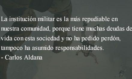 La enfermedad del militarismo. Carlos Aldana.