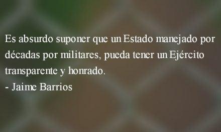 Ejército, soberanía y futuro. Jaime Barrios.