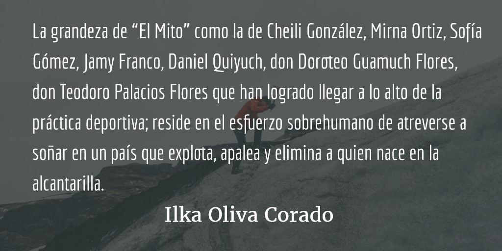 """La grandeza de Erick Barrondo """"El Mito"""". Ilka Oliva Corado."""