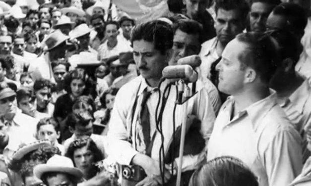 Discurso de conmemoración del levantamiento de cadetes del 2 de agosto, 1954. Manuel Palencia.
