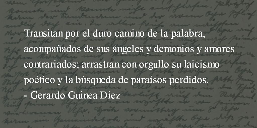 Someterse a la poesía. Gerardo Guinea Diez.