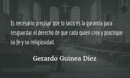 Lo sagrado. Gerardo Guinea Diez.