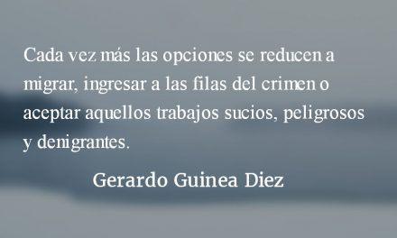 Sin narrativas de futuro. Gerardo Guinea Diez.