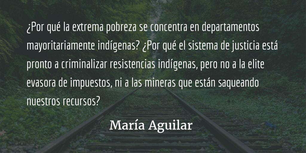 Racismo al revés. María Aguilar.