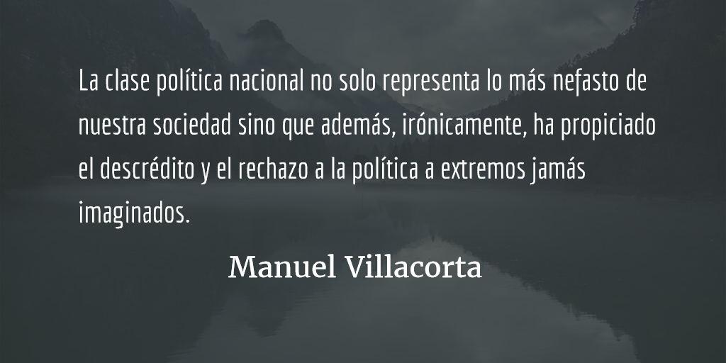 Política y economía: el cambio que nos urge. Manuel R Villacorta O.