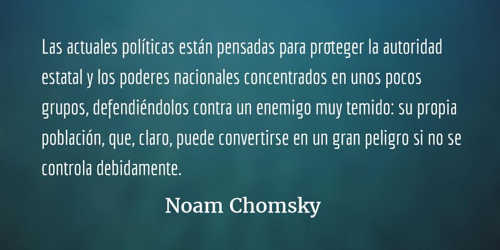 El estado de vigilancia en los países libres. Noam Chomsky.