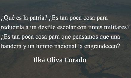 El mediocre patriotismo guatemalteco. Ilka Oliva Corado.