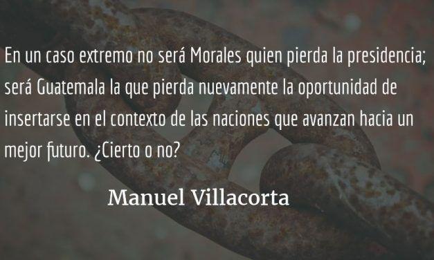 ¿Terminará Morales su mandato? Manuel Villacorta