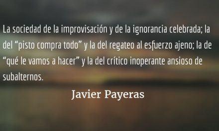 La palabra constante. Javier Payeras.