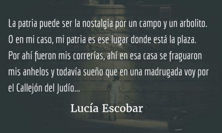 En palabras del violinista sin tejado. Lucía Escobar.