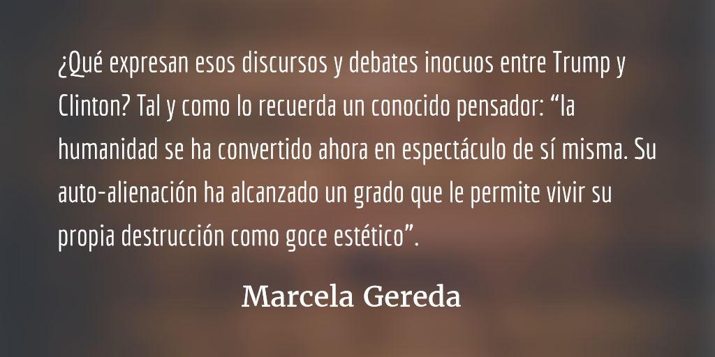 Al segundo debate entre Trump y Clinton. Marcela Gereda.