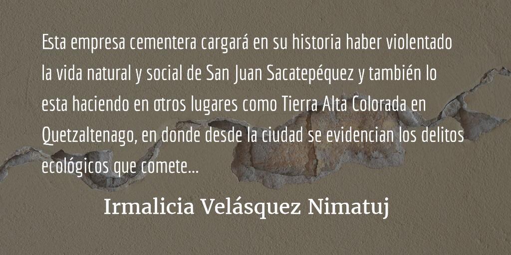 La eliminación de Amílcar Pop. Irmalicia Velásquez Nimatuj.