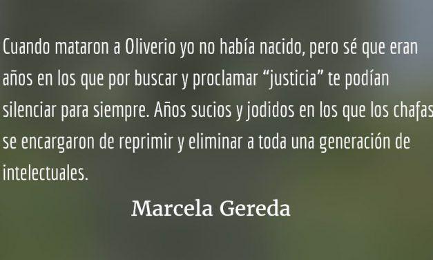 """Oliverio y los """"millennials"""". Marcela Gereda."""