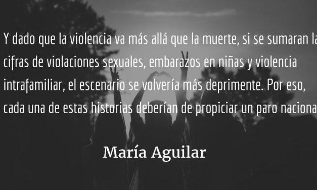 Vivir es resistir. María Aguilar.