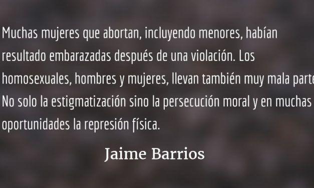 Diversidad y libertad sexual. Jaime Barrios.