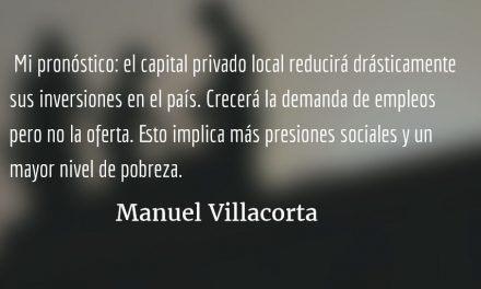 El capital se va y la crisis se queda. Manuel Villacorta.