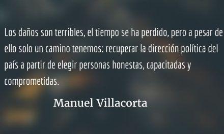 Politiqueros infames. Manuel R Villacorta O.