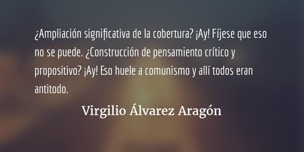 Por montones es mejor negocio. Virgilio Álvarez Aragón.