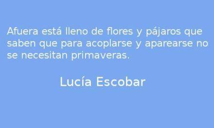 Pegando corazones. Lucía Escobar.