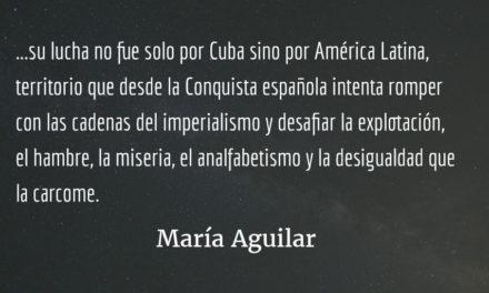 Producto de la frustración histórica. María Aguilar.