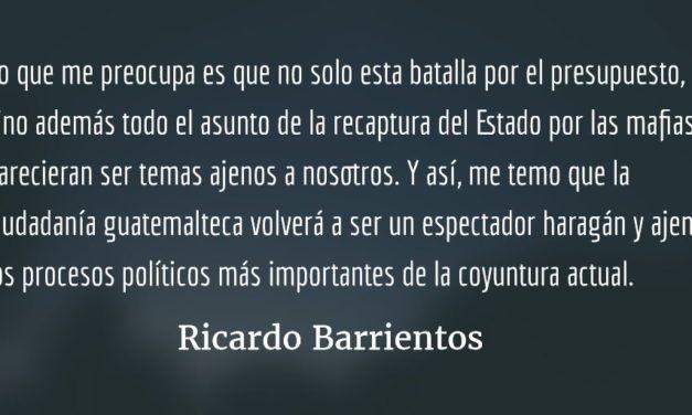 La batalla final por el presupuesto. Ricardo Barrientos.