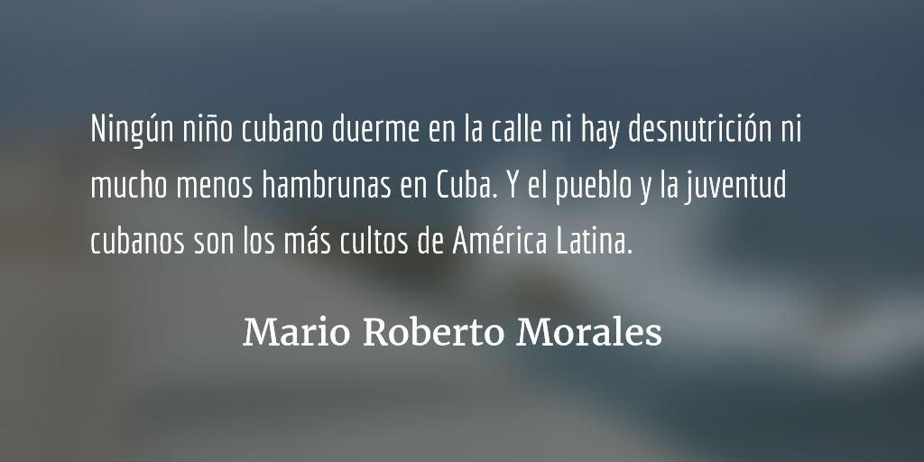 El gusano y la persona. Mario Roberto Morales.