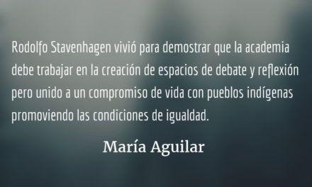 Rodolfo Stavenhagen. María Aguilar.