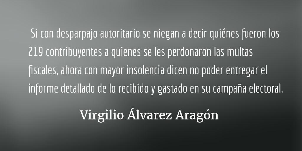 Otra manchota en el tigre. Virgilio Álvarez Aragón.