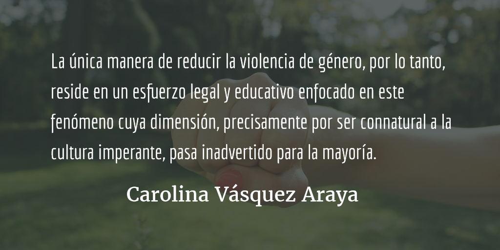 A las cosas, por su nombre. Carolina Vásquez Araya.