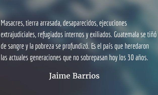 Basta de retroceder. Jaime Barrios.