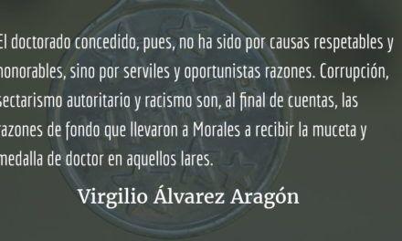 Las serviles causas del «honoris». Virgilio Álvarez Aragón.