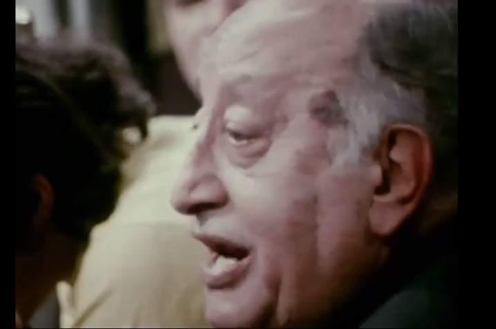 Miguel Ángel Asturias dice el poema «Grillo-Lirio» en 1973