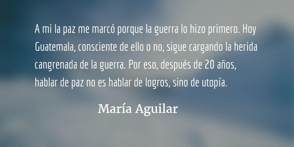 Pueblos indígenas y la paz en Guatemala I. María Aguilar.