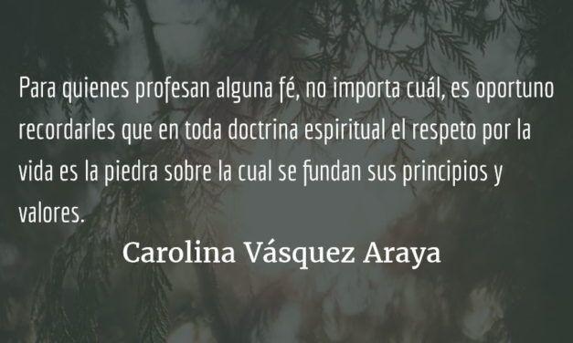 Reflexiones de la época. Carolina Vásquez Araya.