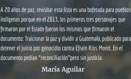 Pueblos indígenas y la paz en Guatemala II. María Aguilar.
