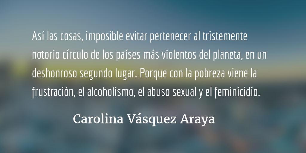 Las buenas noticias. Carolina Vásquez Araya.