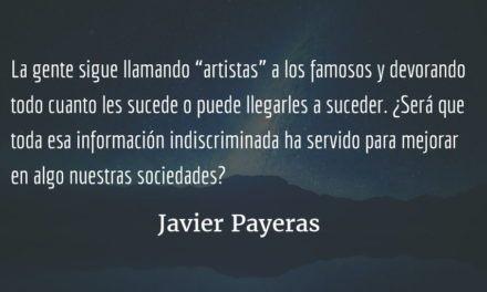 La intimidad de lo público. Javier Payeras.
