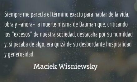 Tres despachos sobre Zygmunt Bauman. Maciek Wisniewski.