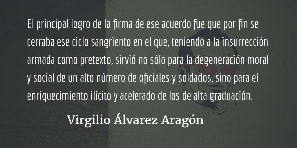 Logros, retos y límites de la paz pactada. Virgilio Álvarez Aragón.